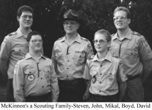1986G 5 4 Janet scouts Mike 4 boys