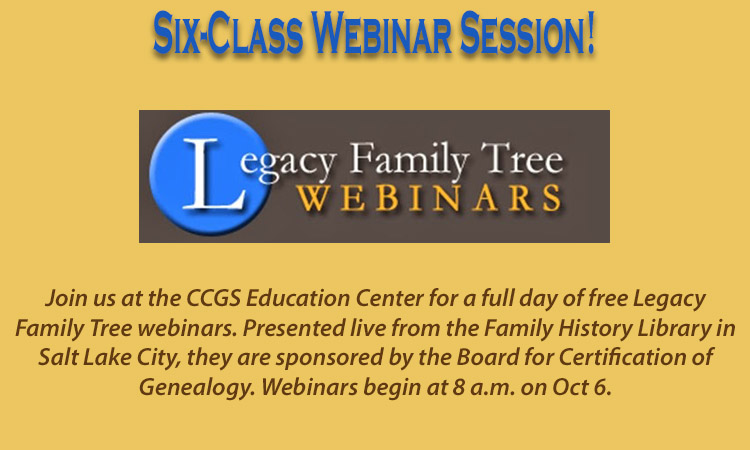 Clark County Genealogy Society October Meetings Washington State