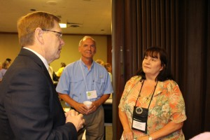 David with Stephen Baylor and Ruth Caesar from the Stillaguamish Valley GS